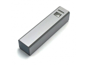 Power Bank с логотипом, металик 2