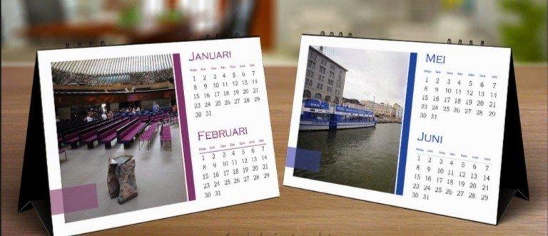 настольные календари домик