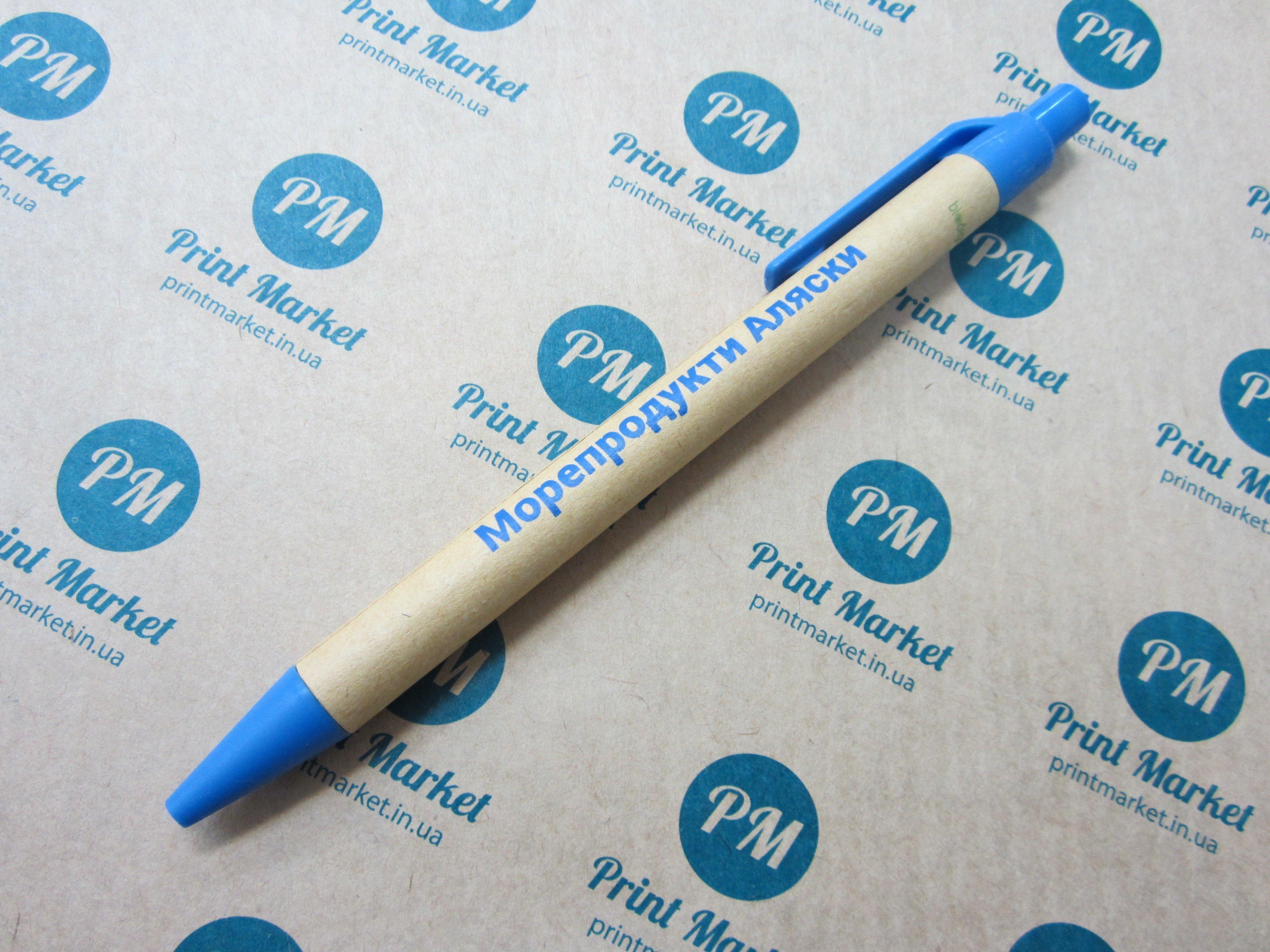 Эко ручка с логотипом